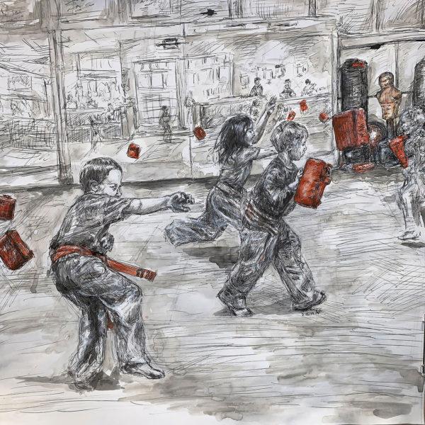 Jessica at Karate – Punching Drill