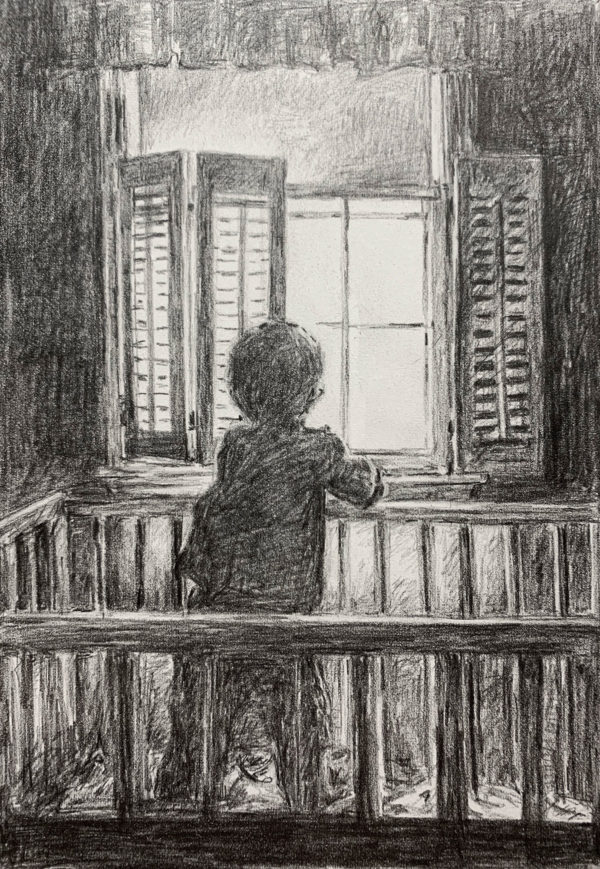 Maddox at the Window